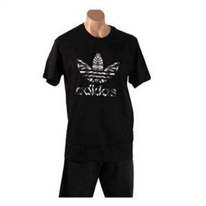NWT Adidas Mens Black Foil T-Shirt L